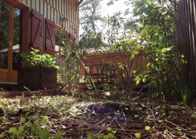 Vue sur la maison depuis le jardin